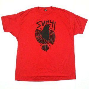 Sum 41 Crow Tee - Tultex T-Shirt - Red - XL
